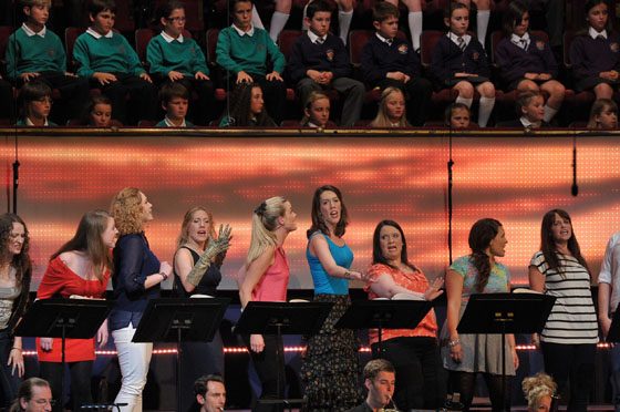 Performers in the Street Chorus perform in Bernstein's Mass at the BBC Proms - BBC/Chris Christodoulou