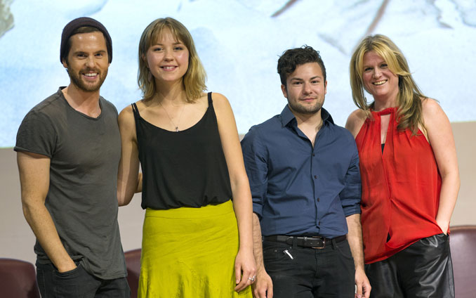 Isabelle and Nathan with Da Vinci actor Tom Riley and Executive Producer Jane Tranter