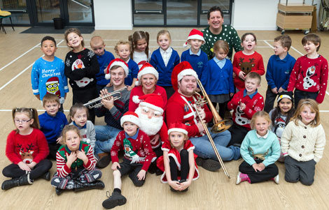 Some children from Oakfield Primary School, Barry, looking forward to coming to the Christmas concert
