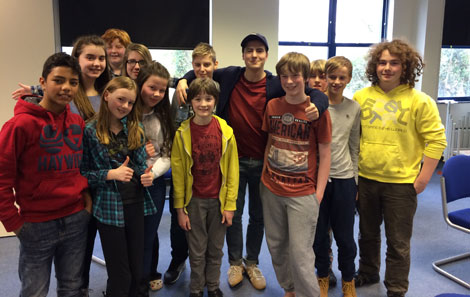 Young Actors in Pembrokeshire with Jacob