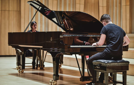 Zoe Rahman's masterclass before her evening performance was streamed live
