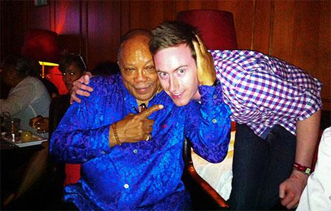 Quincy Jones with Ollie Howell