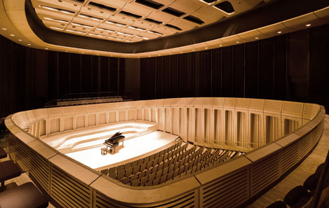 The Royal Welsh College's Dora Stoutzker Hall where the concert will take place