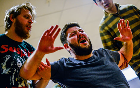 Emyr in rehearsal for the College's forthcoming production of Falstaff