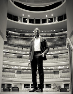 Toks pictured at work at Birmingham Symphony Hall