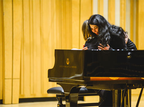 Labeque Sisters with Rachel RWCMD Piano