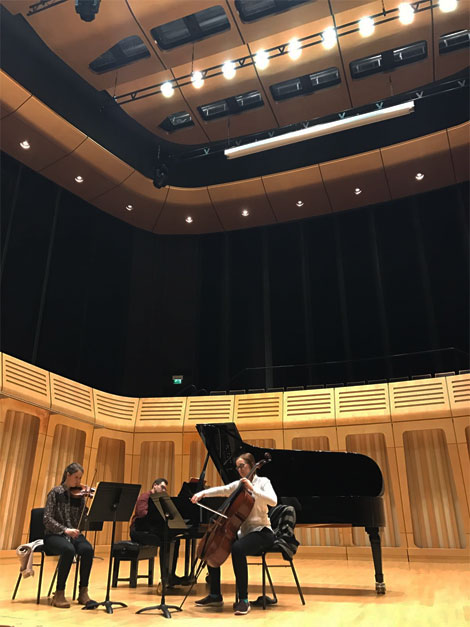 Trio in rehearsal for ...