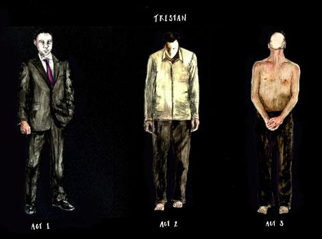 April's costume designs for Tristan