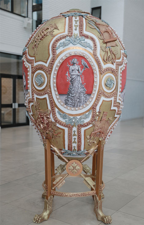 Giant Welsh Faberge egg at RWCMD